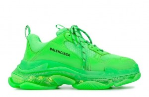 """Clear Sole """"Neon Green"""""""